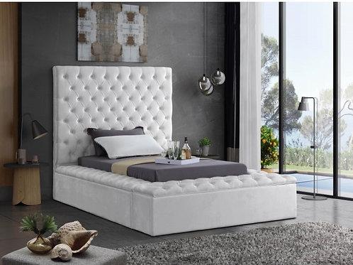 Bliss Velvet Twin Bed