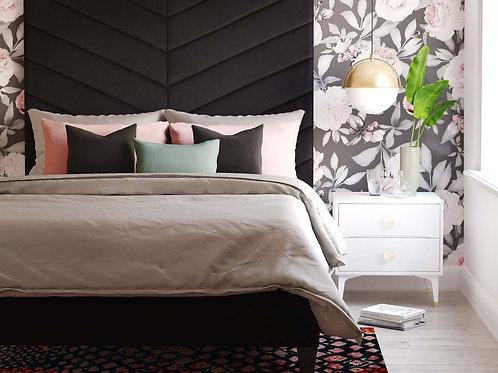 Javan Velvet Bed (King)