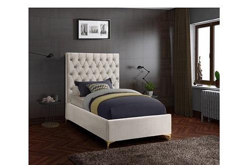 Cruz Velvet Twin Bed