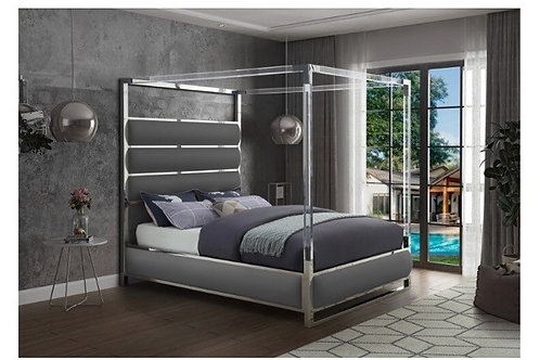 Encore Faux Leather Bed (King)