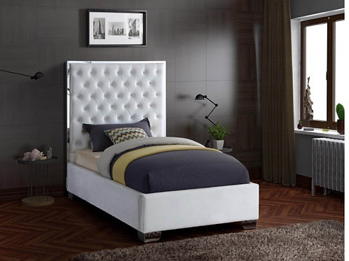Lexi Velvet Twin Bed