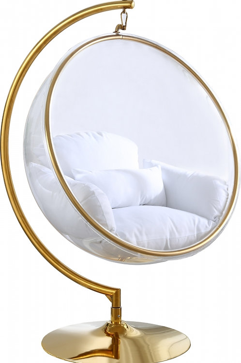 Luna Acrylic Swing Bubble Accent Chair