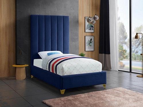 Via Velvet Twin Bed