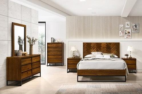 Reed Wood Bedroom Set (Queen)
