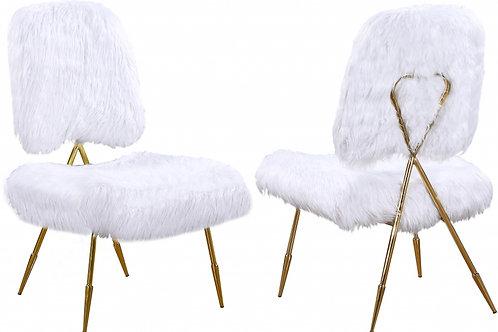 Magnolia Faux Fur Accent Chair (Set of 2)