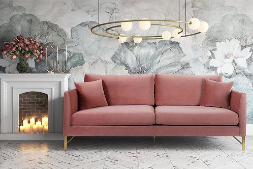 Massi Rose Velvet Sofa