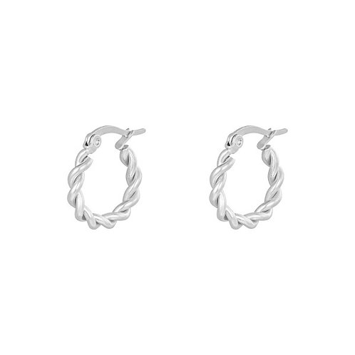 twisted hoops | Zilver