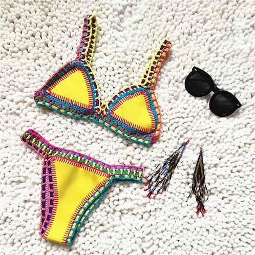 Kendall Ibiza bikini | Geel/wit