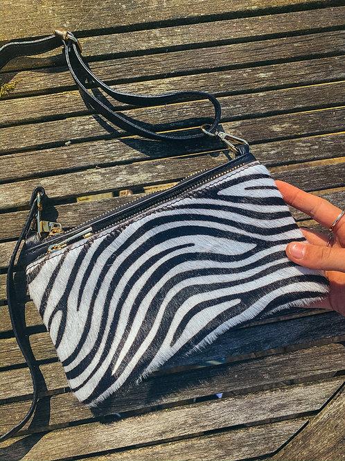 Anna zebra double shoulder bag