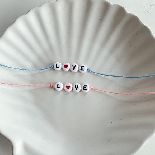 love setje   Blauw & Roze