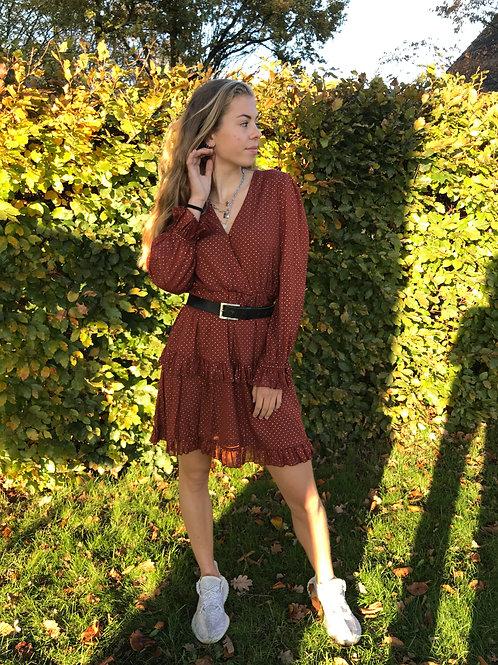Julie ruffle dress | Rood