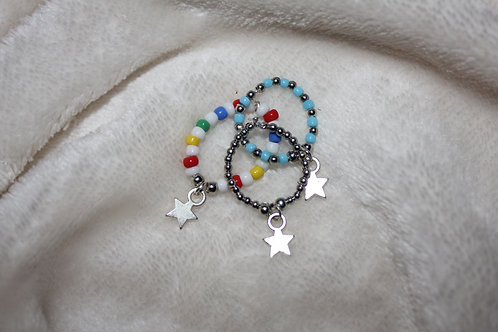 Beaded star ring