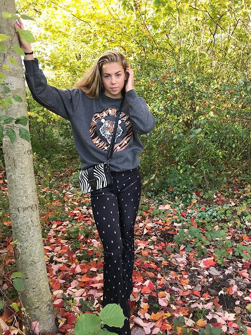 Mimi fearless tiger sweater | Grijs
