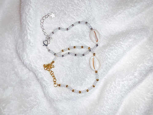 Shell and pearls armbandje | Zilver