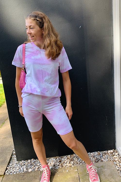May tie dye cycling set | Roze