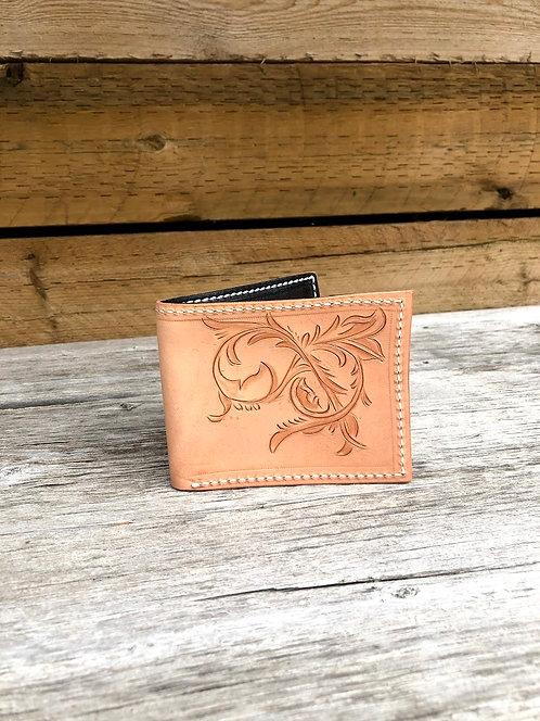 Handcarved Slim Wallet - Decorative