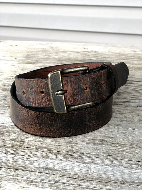 Crazy Horse Brown Leather Belt