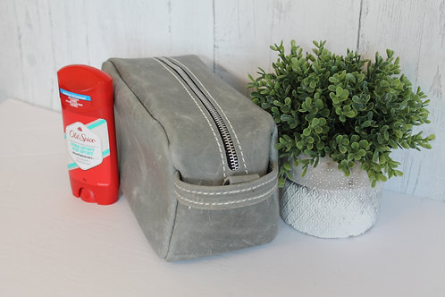 Large Distressed Grey Shaving Kit