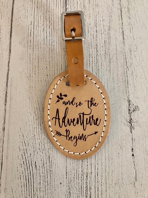 Luggage Tag - and so the Adventure Begins