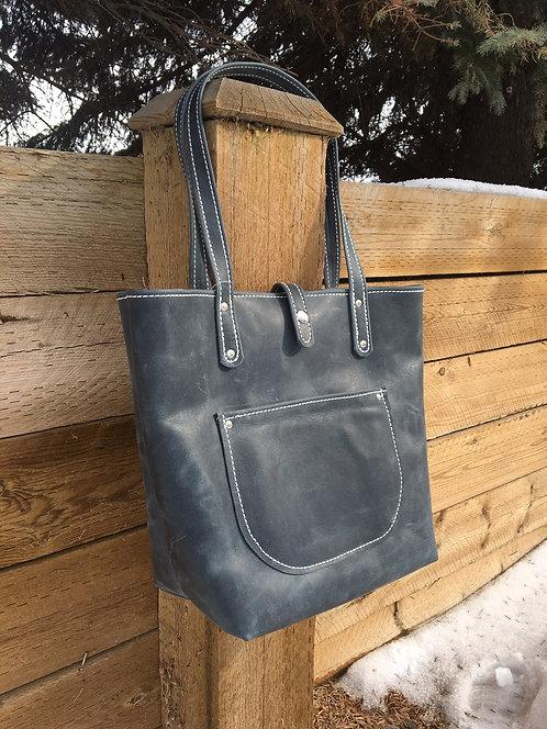 Distressed Denim Soft Tote Bag