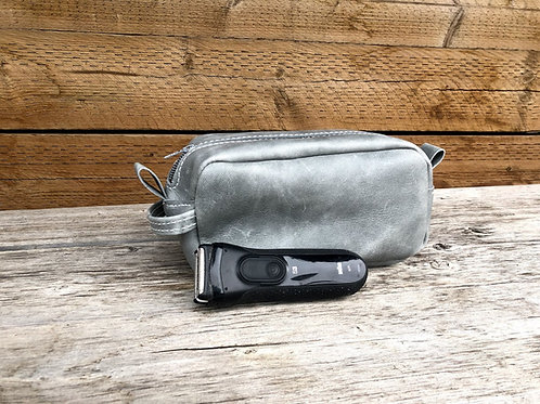 Small Distressed Grey Shaving Kit