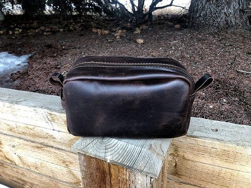 Small Dark Brown Shaving Kit