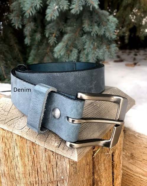 Denim Leather Belt