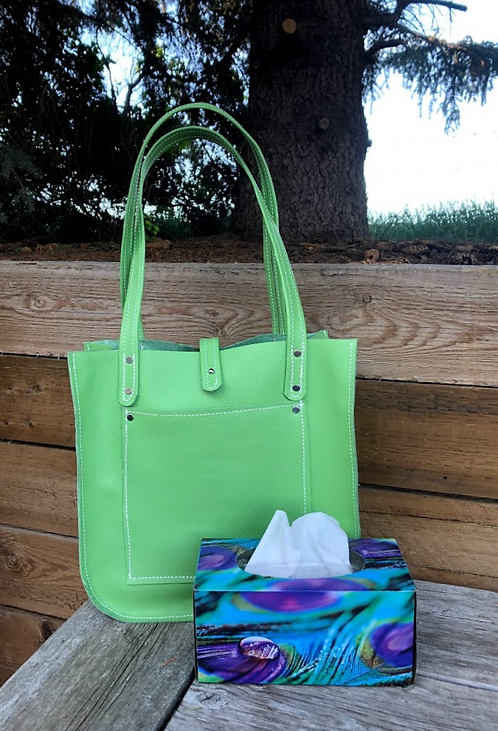 Large Green Firm Tote