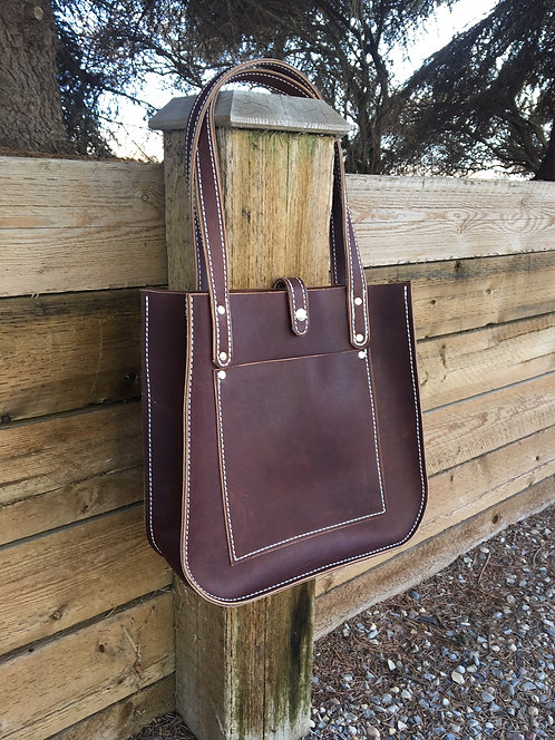 Large Brown Firm Tote