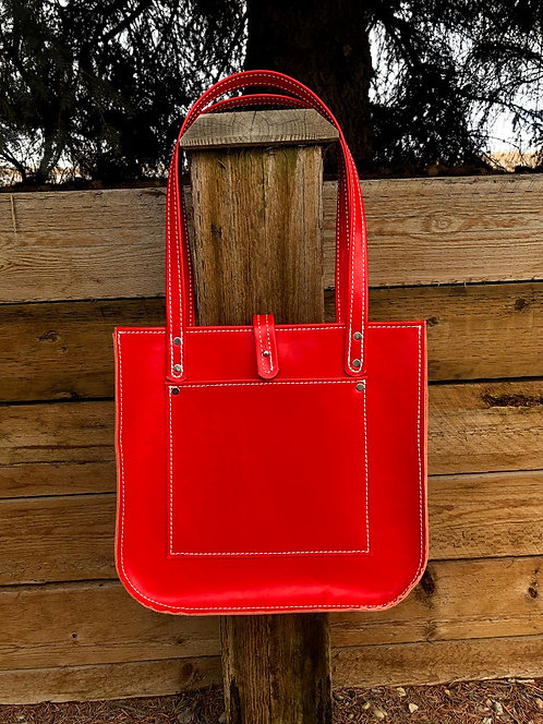 Large Cherry Red Firm Tote