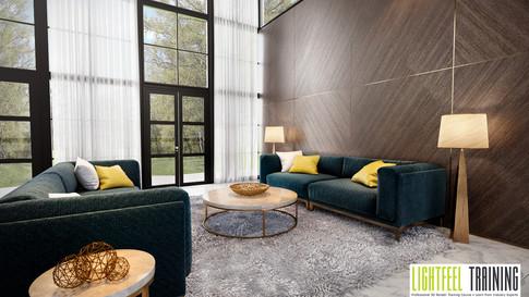 Elegant Living Room - Andrew