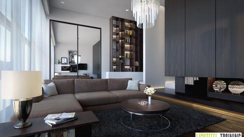 Cozy Living Room -Frost