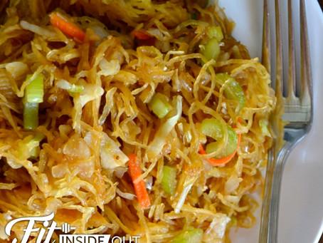 Spaghetti Squash Chow Mein (Vegan, Gluten Free)