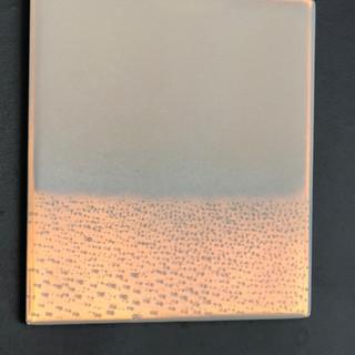 Opaline Blue Drift (installation image in full evening light)