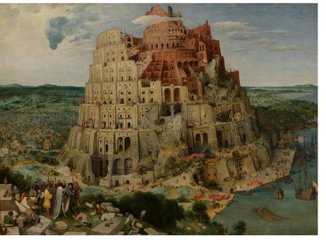 High Resolution Views of the Tower of Babel by Pieter Bruegel, the Elder