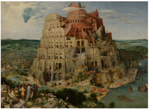 Pieter Bruegel's Tower of Babel | zoom-in (high resolution) view of the Tower of Babel