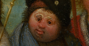 King Nimrod's team member with an unusally round face