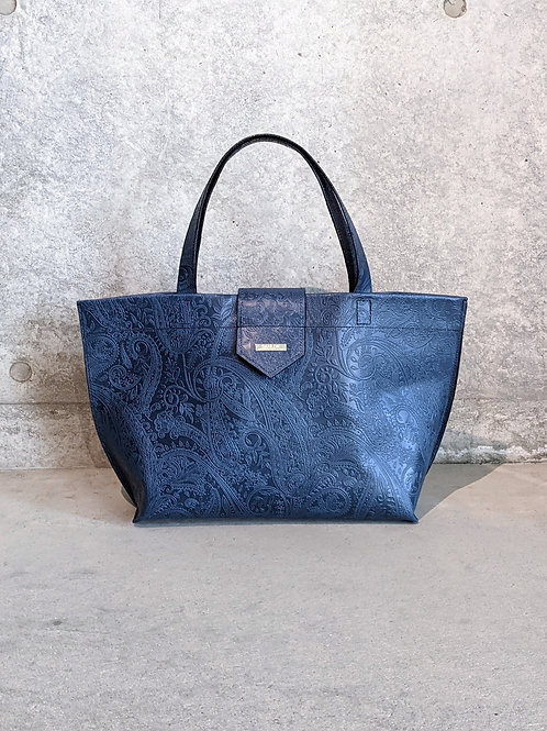 《SANLDK》PAISLY LEATHER TOTE BAG