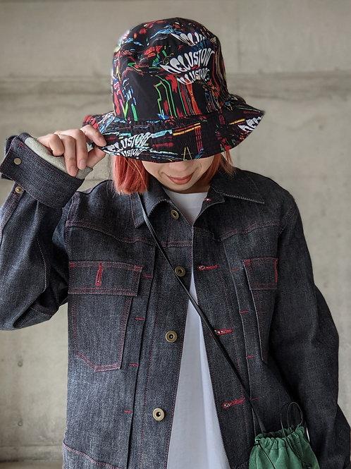 《SOL》NEON PRINTED BUCKET HAT