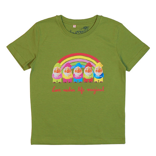 "T-shirt ""Rainbow Gnomes"""