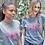 "Thumbnail: T-shirt ""LOVE LOVE LOVE"", grigio mélange"