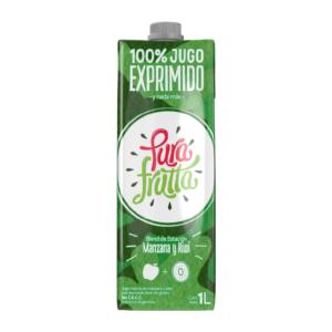 Jugos 100% Natural Exprimido Sabor Manzana y Kiwi «PURA FRUTA» (1Lts.)
