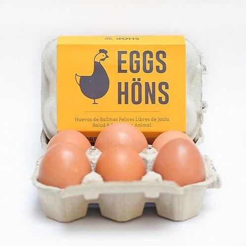 Huevos Eggs höns (6ud)