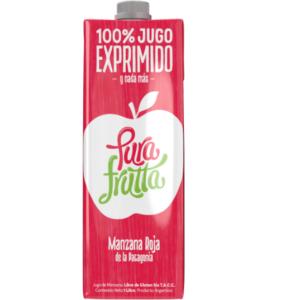 Jugos natural 100% Exprimido Sabor Manzana Roja- «PURA FRUTTA» (1Lts.)