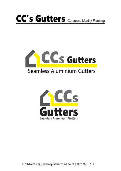 CC's Gutters logo design