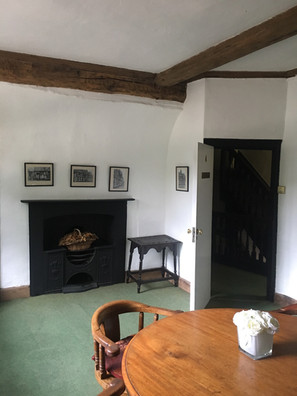 Freshened up ceiling and walls in the Manor House