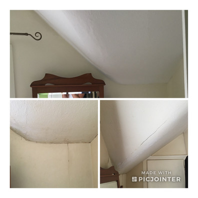 water damage before and after