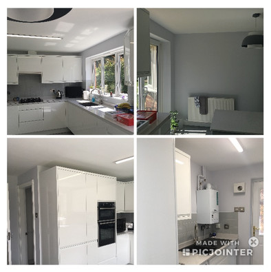 Painted following a new kitchen installation