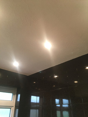 Bathroom ceiling after water damage