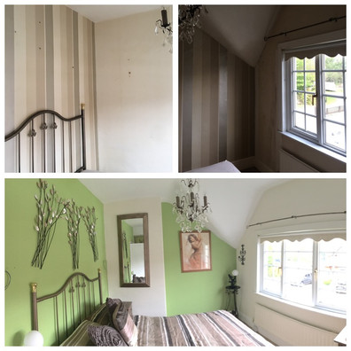 Before and after bedroom update